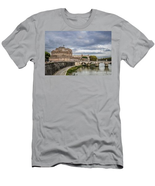 Castle St Angelo In Rome Italy Men's T-Shirt (Athletic Fit)