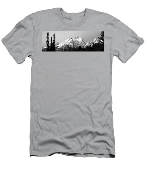 Cathedral Group Grand Teton National Men's T-Shirt (Athletic Fit)