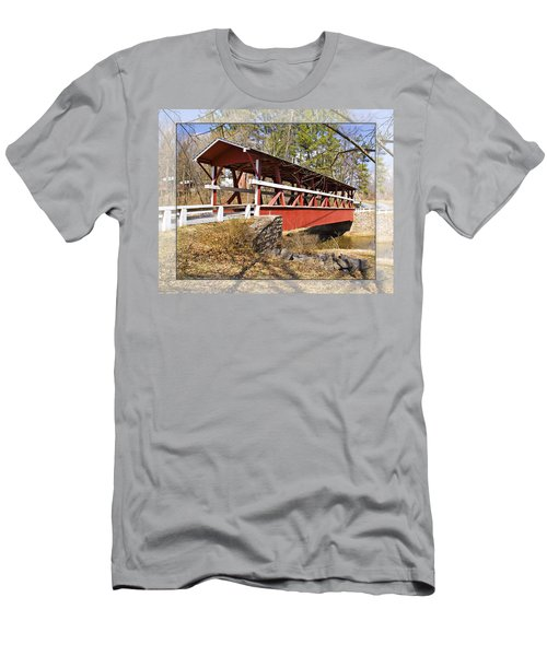 Covered Bridge In Pa. Men's T-Shirt (Slim Fit) by Walter Herrit