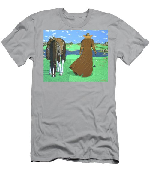 Cowboy Caddy Men's T-Shirt (Athletic Fit)