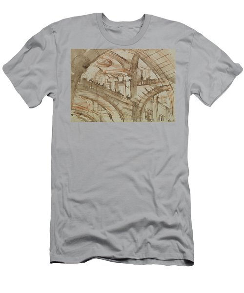 Drawing Of An Imaginary Prison Men's T-Shirt (Slim Fit) by Giovanni Battista Piranesi