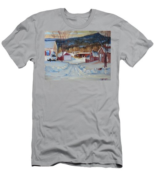 Men's T-Shirt (Slim Fit) featuring the painting Eddie's by Len Stomski