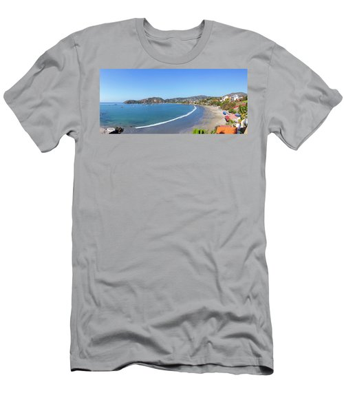 Elevated View Of The Playa La Madera Men's T-Shirt (Athletic Fit)