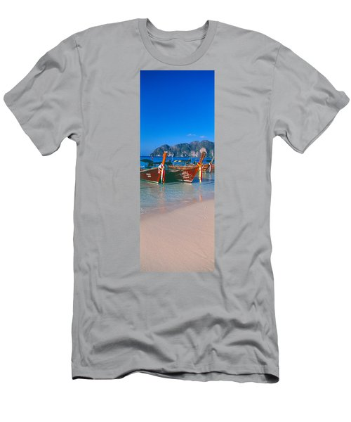 Fishing Boats In The Sea, Phi Phi Men's T-Shirt (Athletic Fit)