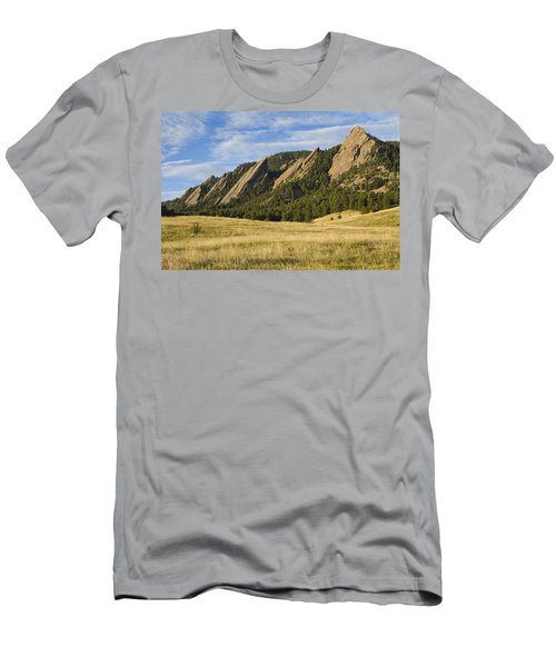 Flatirons With Golden Grass Boulder Colorado Men's T-Shirt (Athletic Fit)