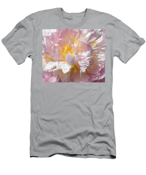 Men's T-Shirt (Slim Fit) featuring the photograph Flirtatious Pink by Lilliana Mendez