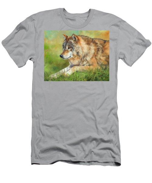 Grey Wolf Men's T-Shirt (Slim Fit)