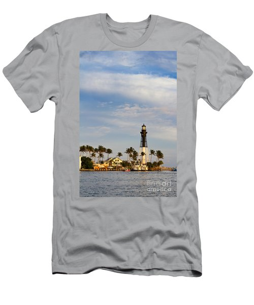 Hillsboro Inlet Lighthouse Men's T-Shirt (Slim Fit) by Les Palenik