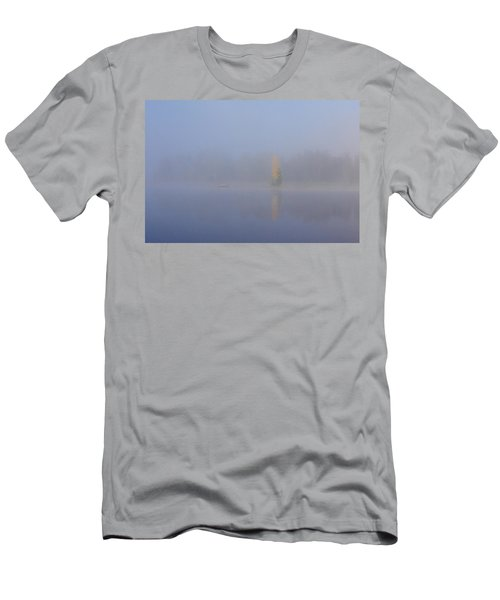 Misty Morning On A Lake Men's T-Shirt (Slim Fit) by Jouko Lehto
