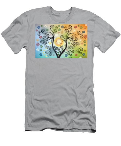 Men's T-Shirt (Slim Fit) featuring the digital art Moon Swirl Tree by Kim Prowse
