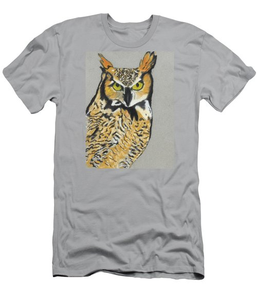 Men's T-Shirt (Slim Fit) featuring the painting Night Owl by Jeanne Fischer