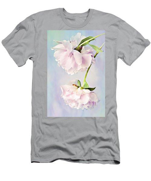 Pastel Peonies Men's T-Shirt (Athletic Fit)