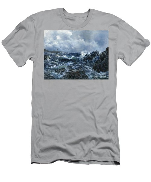 Men's T-Shirt (Slim Fit) featuring the painting Sailor's Light by Lynne Wright