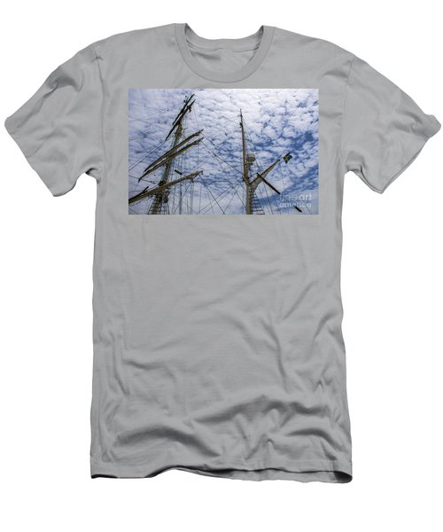 Tall Ship Mast Men's T-Shirt (Slim Fit) by Dale Powell