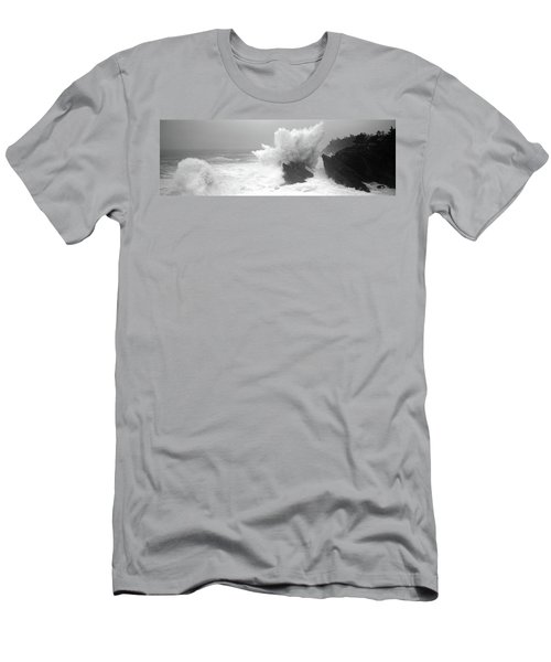 Waves Breaking On The Coast, Shore Men's T-Shirt (Athletic Fit)