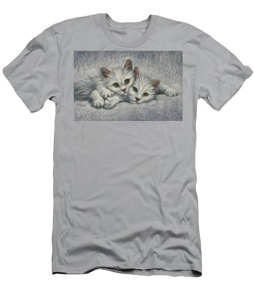 Men's T-Shirt (Slim Fit) featuring the painting White On White by Cynthia House