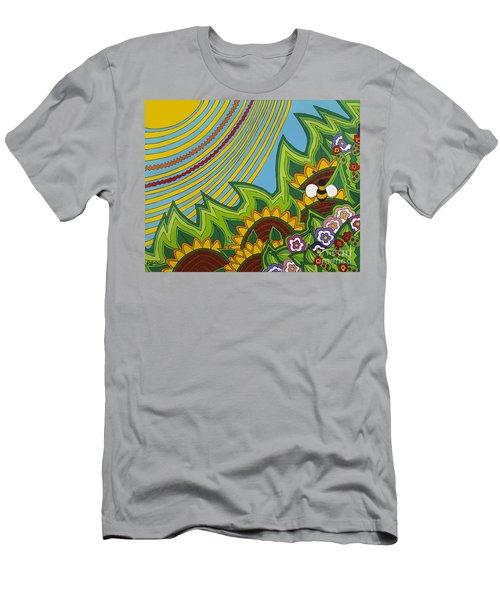 Sunflowers Men's T-Shirt (Slim Fit) by Rojax Art