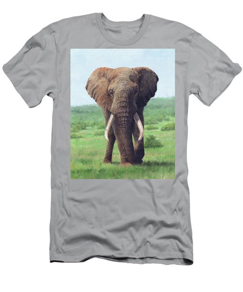 African Elephant Men's T-Shirt (Slim Fit)