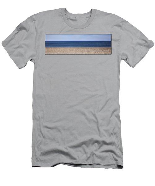 Color Bars Beach Scene Men's T-Shirt (Athletic Fit)