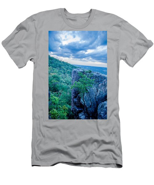 Beautiful Aerial Landscape Views From Crowders Mountain Near Gas Men's T-Shirt (Athletic Fit)