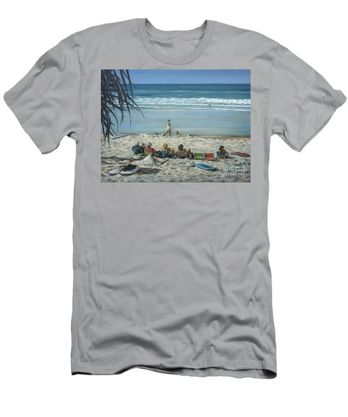 Burleigh Beach 220909 Men's T-Shirt (Slim Fit) by Selena Boron