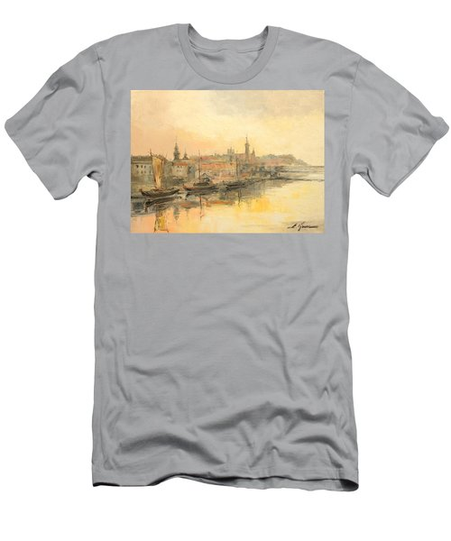 Old Warsaw - Wisla River Men's T-Shirt (Athletic Fit)