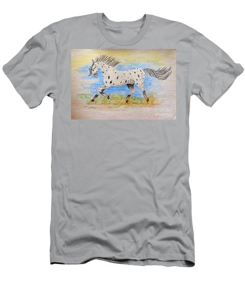 Running Free Men's T-Shirt (Slim Fit) by Debbie Portwood