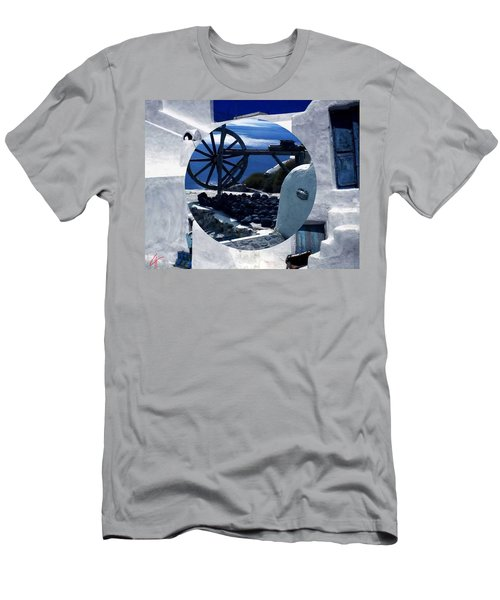 Santorini Island Greece Men's T-Shirt (Athletic Fit)