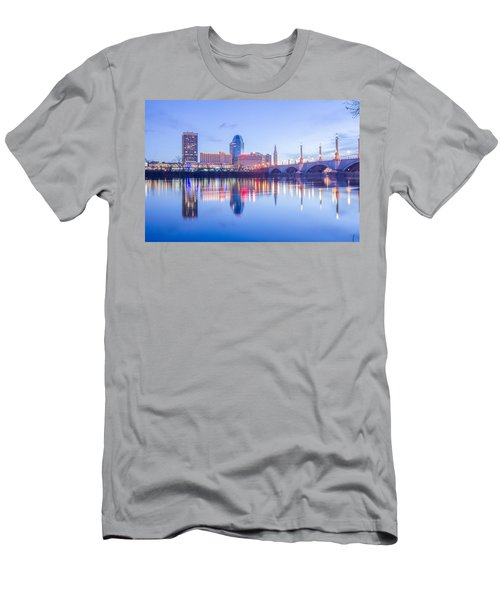 Springfield Massachusetts City Skyline Early Morning Men's T-Shirt (Athletic Fit)