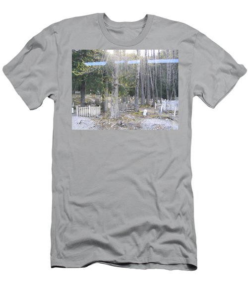 300yr Cemetery Men's T-Shirt (Slim Fit) by Brian Williamson