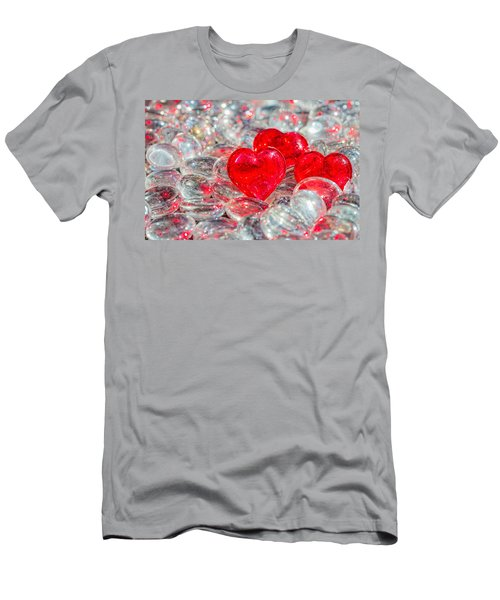 Crystal Heart Men's T-Shirt (Athletic Fit)