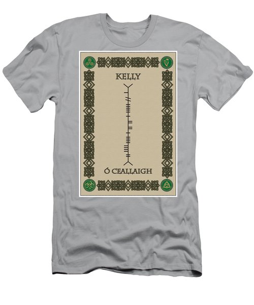 Men's T-Shirt (Slim Fit) featuring the digital art Kelly Written In Ogham by Ireland Calling