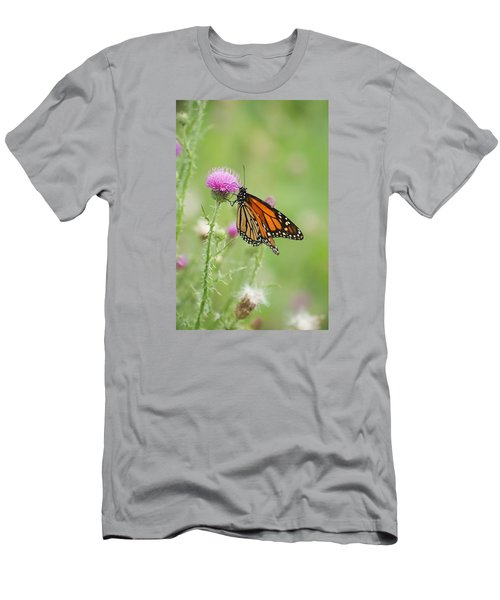 Men's T-Shirt (Slim Fit) featuring the photograph Monarch Butterfly by Heidi Poulin