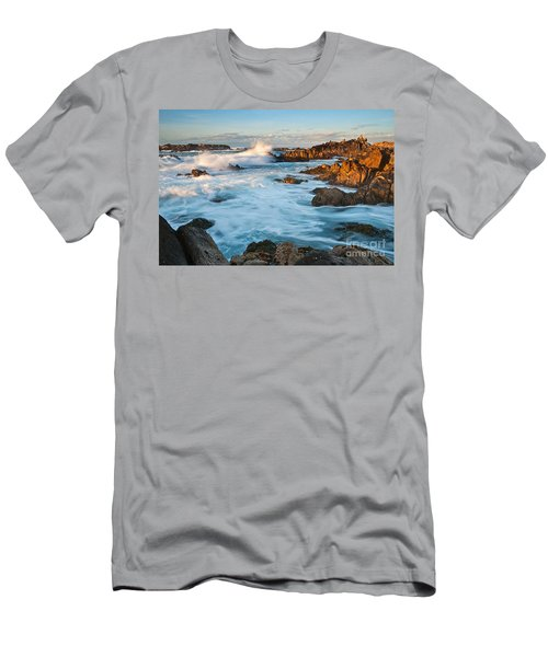 Rocky Asilomar Beach In Monterey Bay At Sunset. Men's T-Shirt (Athletic Fit)