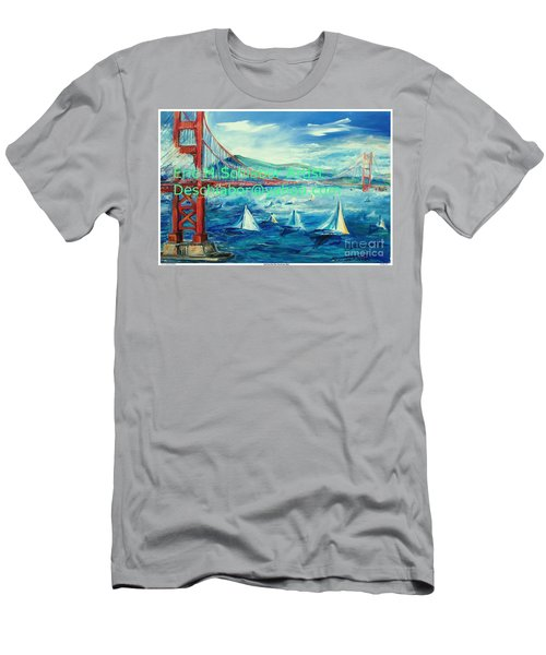 San Francisco Golden Gate Bridge Men's T-Shirt (Athletic Fit)