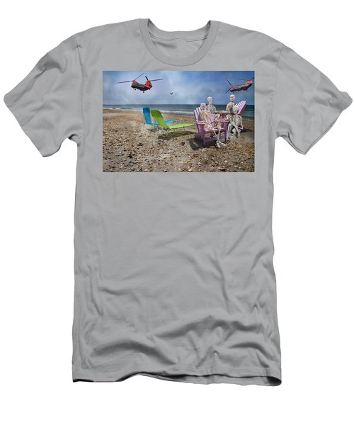 Search Party Men's T-Shirt (Slim Fit) by Betsy Knapp