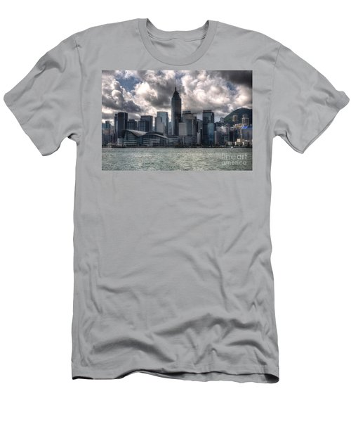 Men's T-Shirt (Slim Fit) featuring the photograph Hong Kong Harbour by Joe  Ng