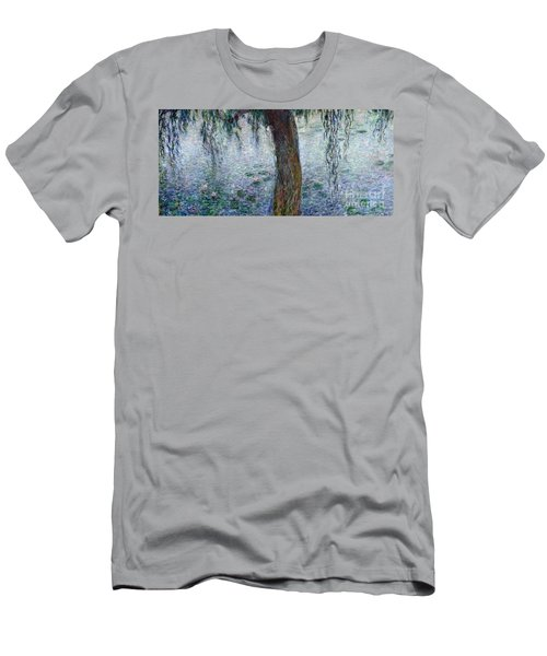 Waterlilies Morning With Weeping Willows Men's T-Shirt (Athletic Fit)