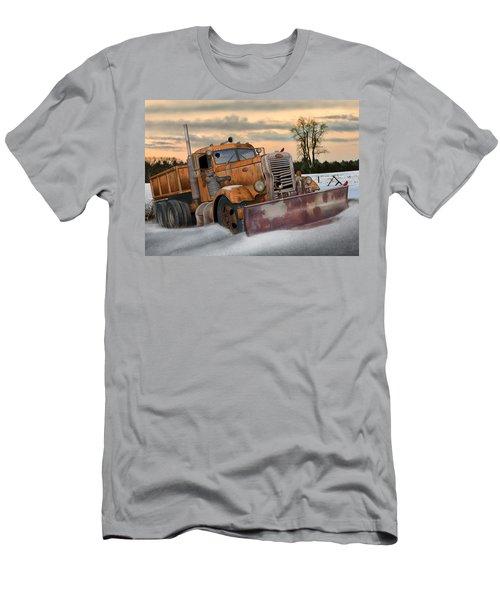 '55 Pete Snowplow Men's T-Shirt (Slim Fit) by Stuart Swartz