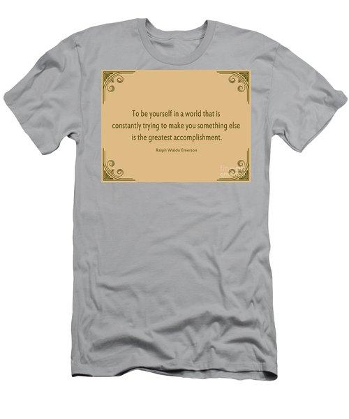 58- Ralph Waldo Emerson Men's T-Shirt (Athletic Fit)