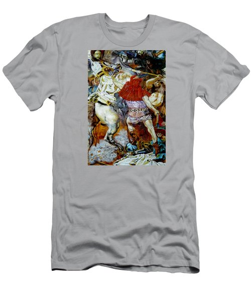 Men's T-Shirt (Slim Fit) featuring the painting Battle Of Grunwald by Henryk Gorecki
