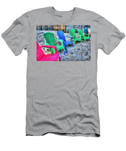Men's T-Shirt (Slim Fit) featuring the digital art 6 Chairs by Michael Thomas