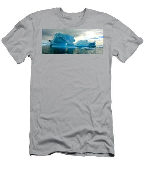Men's T-Shirt (Slim Fit) featuring the photograph Icebergs by Amanda Stadther