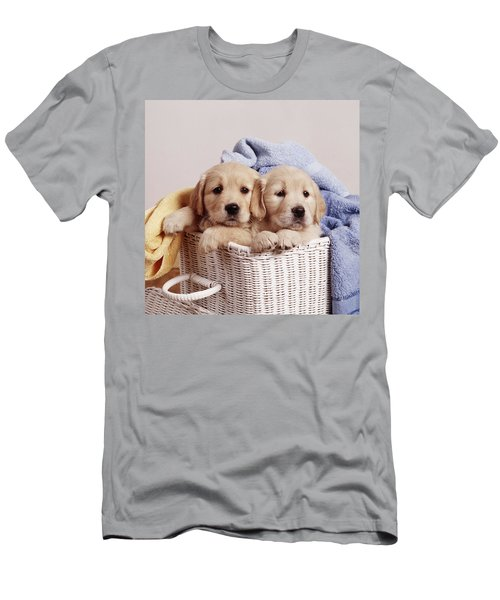 Golden Retriever Puppies Men's T-Shirt (Athletic Fit)