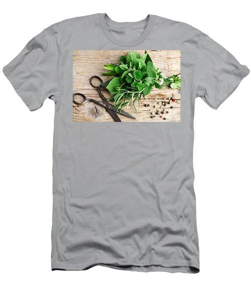 Kitchen Herbs Men's T-Shirt (Athletic Fit)