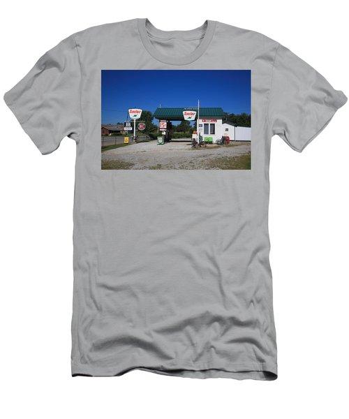 Route 66 Sinclair Station Men's T-Shirt (Athletic Fit)