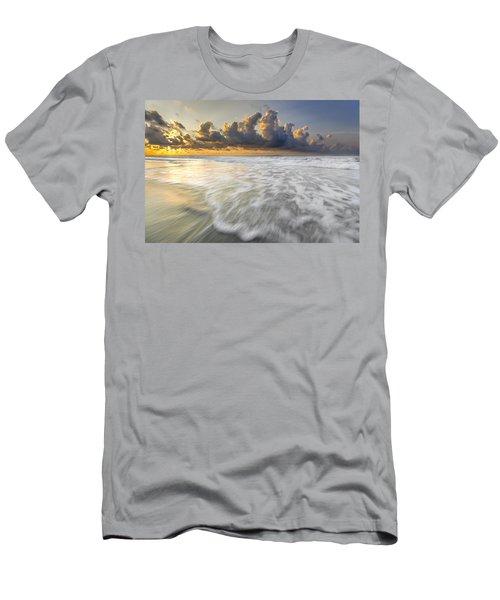Sunrise On Hilton Head Island Men's T-Shirt (Slim Fit) by Peter Lakomy