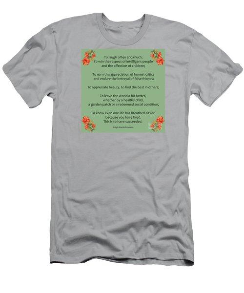 75- Ralph Waldo Emerson Men's T-Shirt (Slim Fit) by Joseph Keane