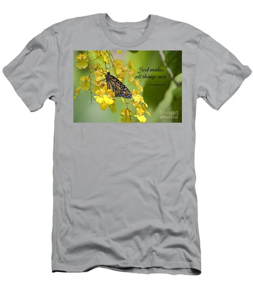 Butterfly Scripture Men's T-Shirt (Athletic Fit)