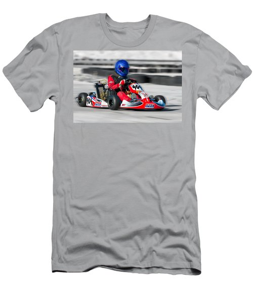 Men's T-Shirt (Athletic Fit) featuring the photograph Racing Go Kart by Gunter Nezhoda